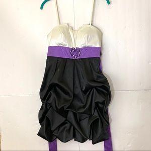 IZ Byer Party Dress Short Spaghetti Strap 7